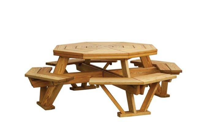 Octagon Picnic Table Kit octagon picnic table pdf_36435 670x400 simple blueprint for picnic ...