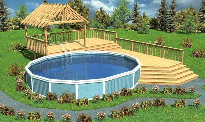Above Ground Pool Deck Design Ideas House Plans 168008