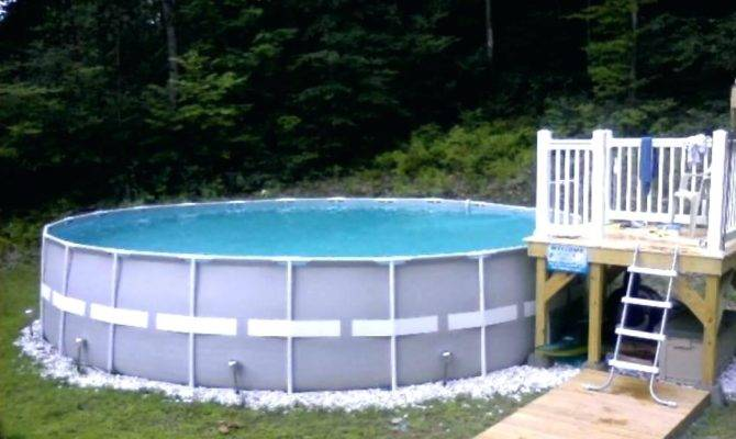 Above Ground Pool Deck Designs Small