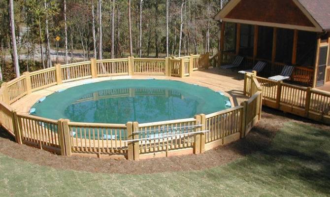 Above Ground Pool Deck Ideas Design