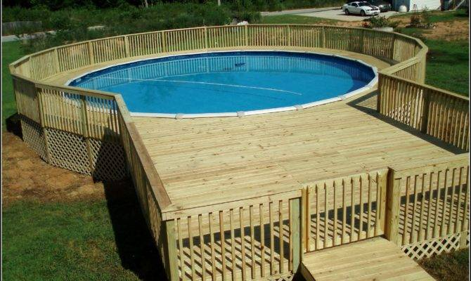 Above Ground Pool Deck Plans Decks Home Decorating