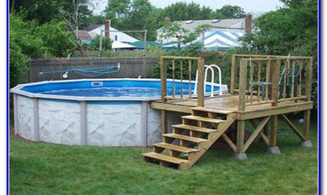 Above Ground Pool Deck Plans Decks Home