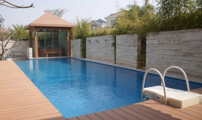 Simple Free Pool Deck Plans Placement House Plans