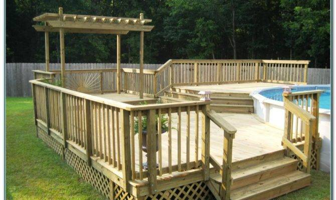 Above Ground Pool Deck Plans Pools Home