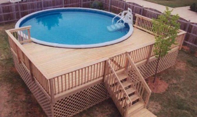 Above Ground Pool Deck Plans Round Designs