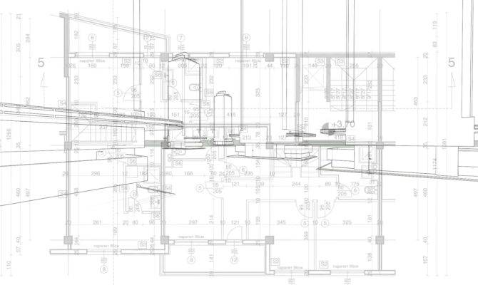 Abstract Architecture Blueprint House Plan