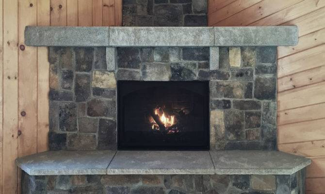 Acadia Fireplace Features Ashlar Veneer Stone New