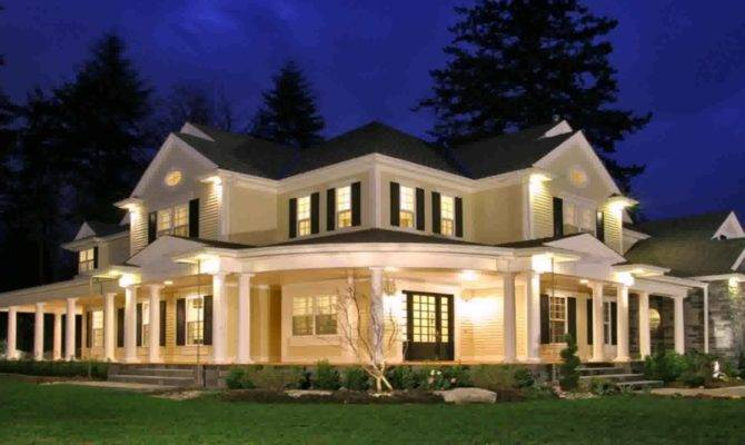 Acadian Style House Plans Wrap Around Porch Lighting