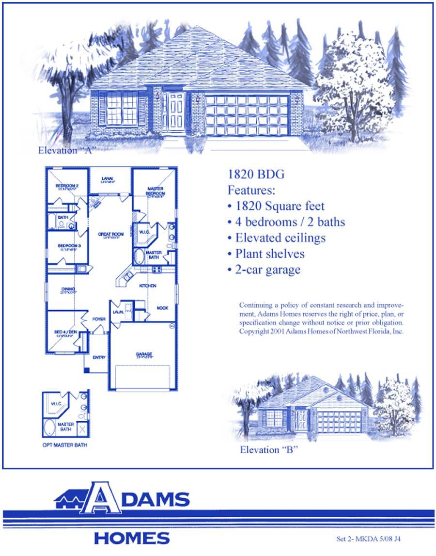 Adams Home Floor Plan