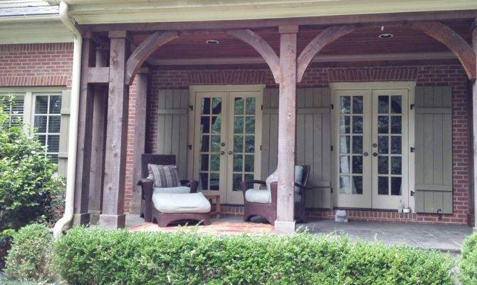 Adding Back Porch Brick House