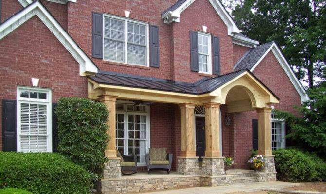 Adding Front Porch Brick House Style Plans