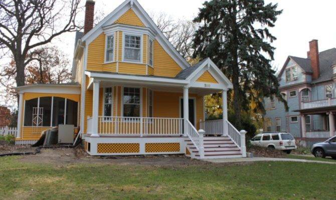 Adding Porch House Yellow Style Plans