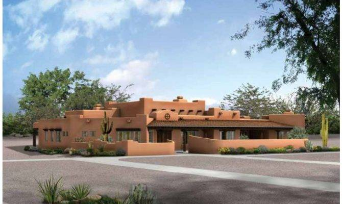 Adobe House Plan Square Feet Bedrooms Dream Home