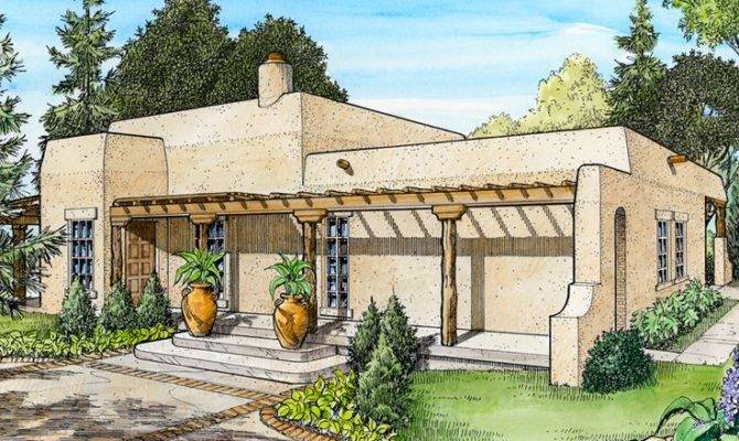 Adobe House Plans Small Southwestern Home Plan Design