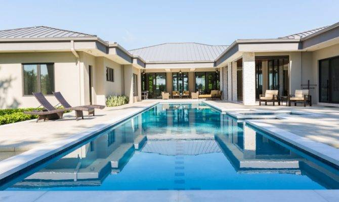 11 U Shaped House Plans With Pool That Will Make You Happier House Plans