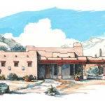 Adobe Southwestern Front Elevation Plan Houseplans