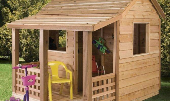 Adorable Outdoor Wood Cottage Playhouses Kids