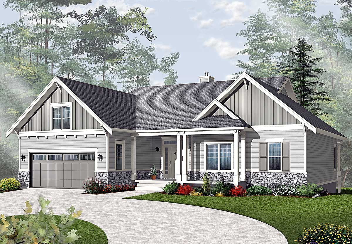 Airy Craftsman Style Ranch Architectural House Plans 93416,Property Brothers Houses For Sale