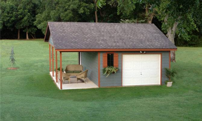 Aker Hill Covered Porch Garage Plan House