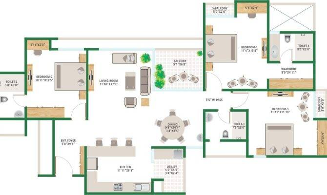 Alchemy Urban Forest Bedroom Apartments Whitefield