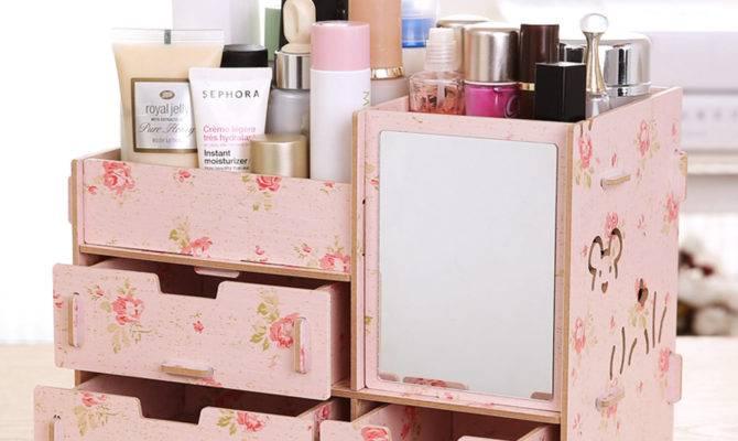 Aliexpress Buy Colorful Wood Makeup Organizer