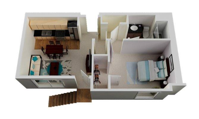 All Utilizing Compact Space Features One Bedroom