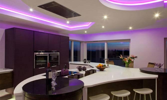 Alluring Design Ideas New Modern Kitchen White Purple Colors
