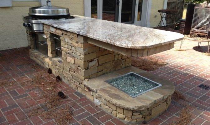 Alluring Design Outdoor Kichen Ideas Bricks Kitchen Island
