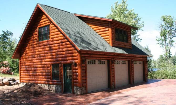 Almost Complete Custom Garage Hand Scribe Log Siding There
