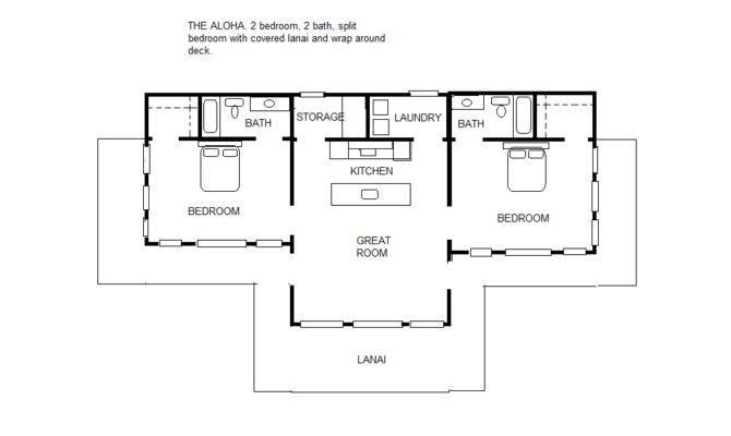 Aloha Split Bedroom Floor Plan