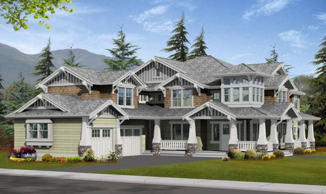 Alva Luxury Craftsman Home Plan House Plans More