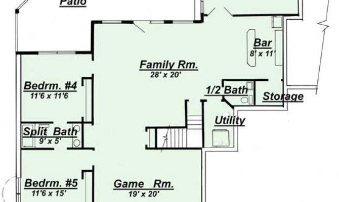 Amazing Basement Home Plans Ranch House Floor