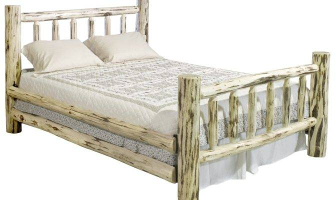 Amazing Cottage Rustic Log Beds Bedroom