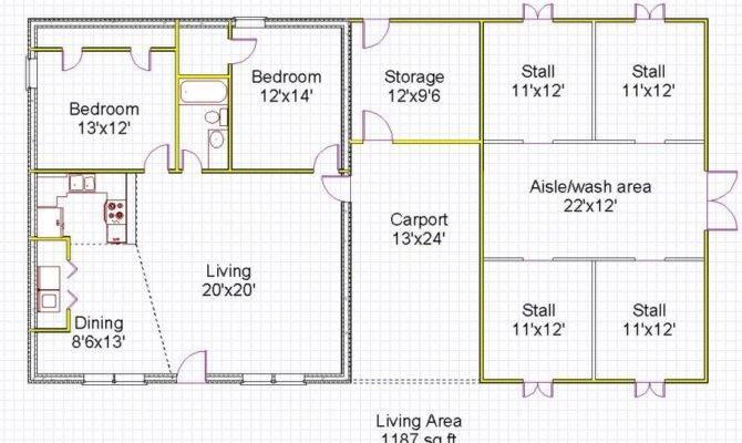 Amazing Horsehouse Floor Plan Spacious Living Room Icf Home Plans