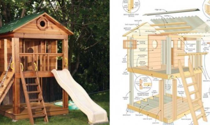 Amazing Kids Playhouse Plans Woodwork City