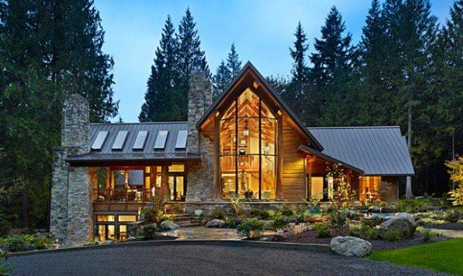 Amazing Mountain Houses Style Motivation