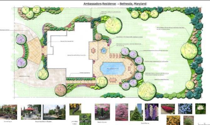 Ambassadors Residence Bethesda Maryland Landscape Plan