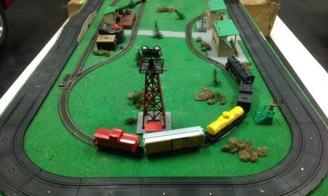 American Flyer Gilbert Train Slot Car Rare Factory Layout