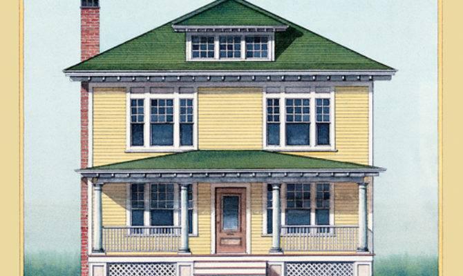 American Foursquare Architecture Interiors Old House