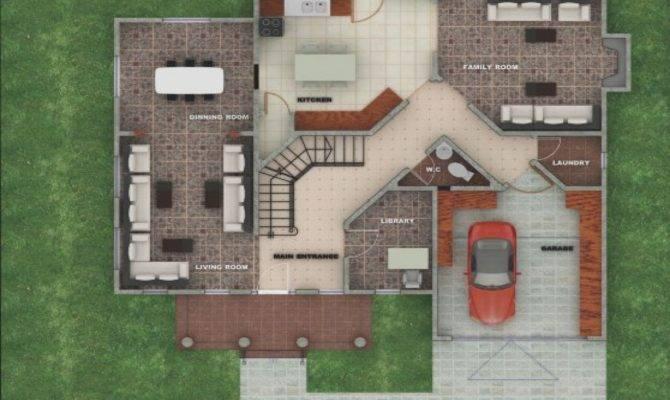 American House Designs Floor Plans Modern Plan