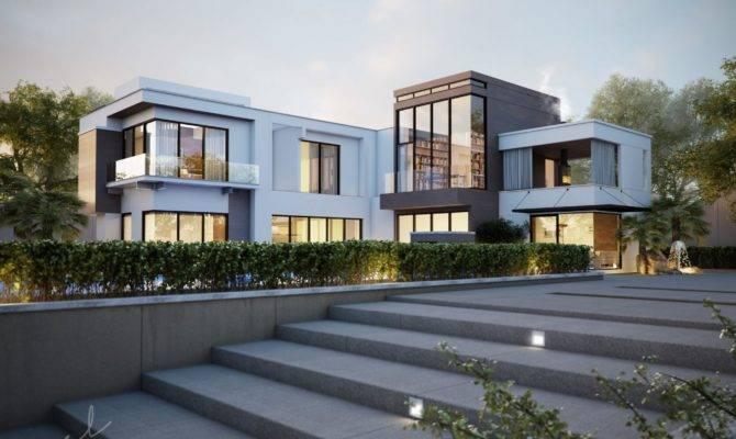 American Inspired House Design Sunset Scene Second Part