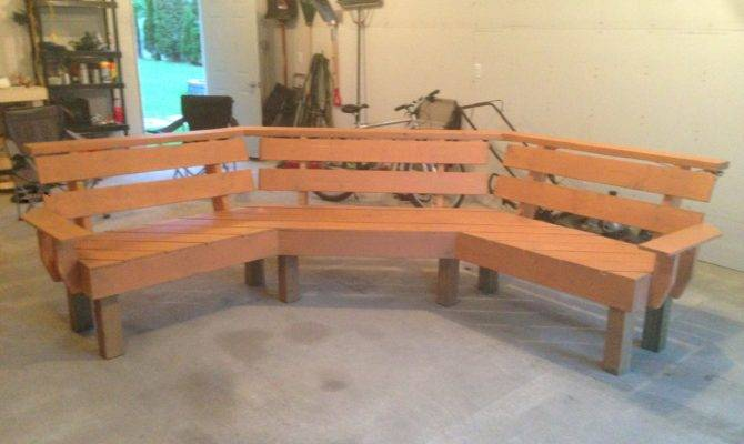 Ana White Curved Bench Diy Projects