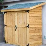 Ana White Small Cedar Fence Picket Storage Shed Diy