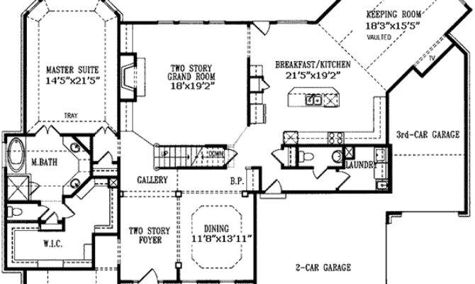 Angled Keeping Room Architectural Designs