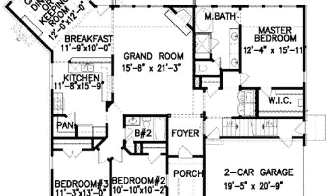 Angled Keeping Room Floor Master Suite