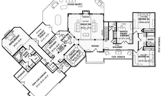 Angled Split Bedroom Ranch Floor Master