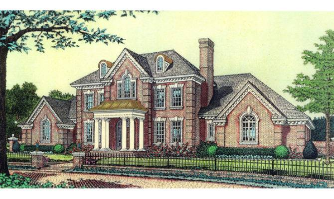 Anssonnette Luxury Colonial Home Plan House