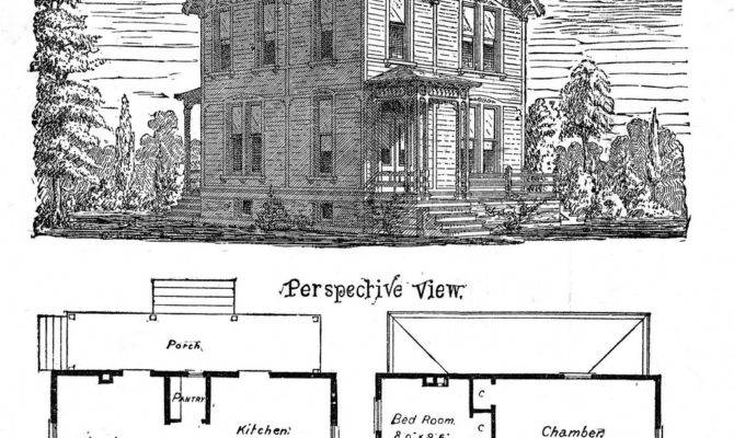 Antique Clip Art Victorian Houses Graphics Fairy