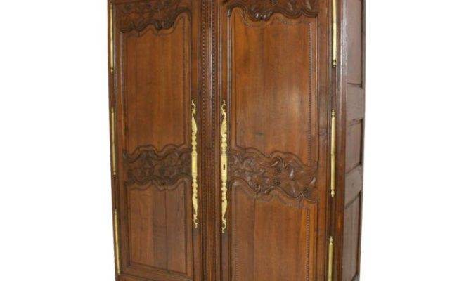 Antique French Country Armoire Cabinet Wardrobe Grapes