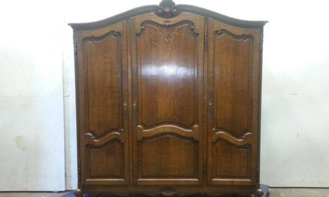 Antique French Country Three Door Armoire